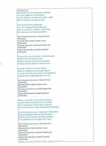 Clementine chanson