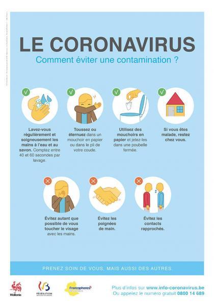 Coronavirus aviq affiche