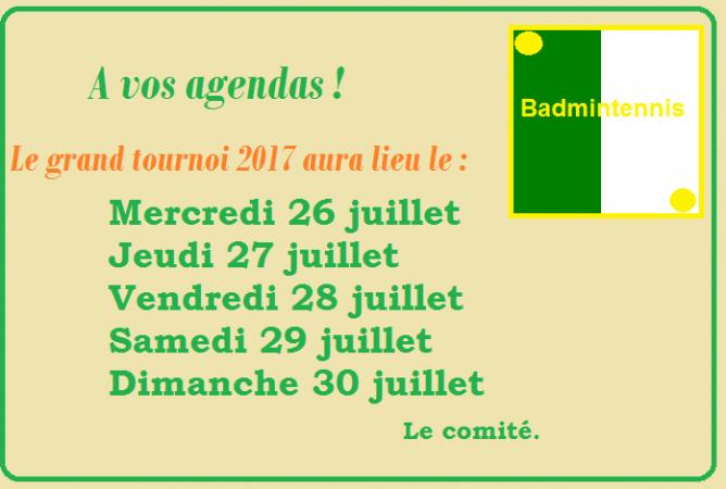 Dates 2017