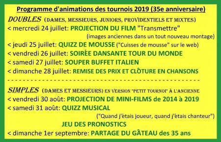 Programme 2019 35e
